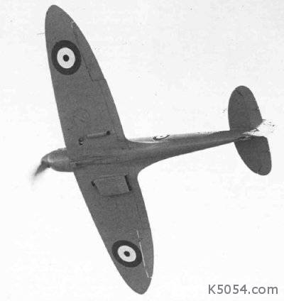 K5054 | Spitfire prototype in flight